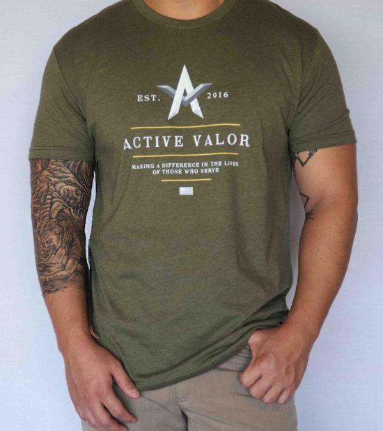 Men's Shirt: Military Green