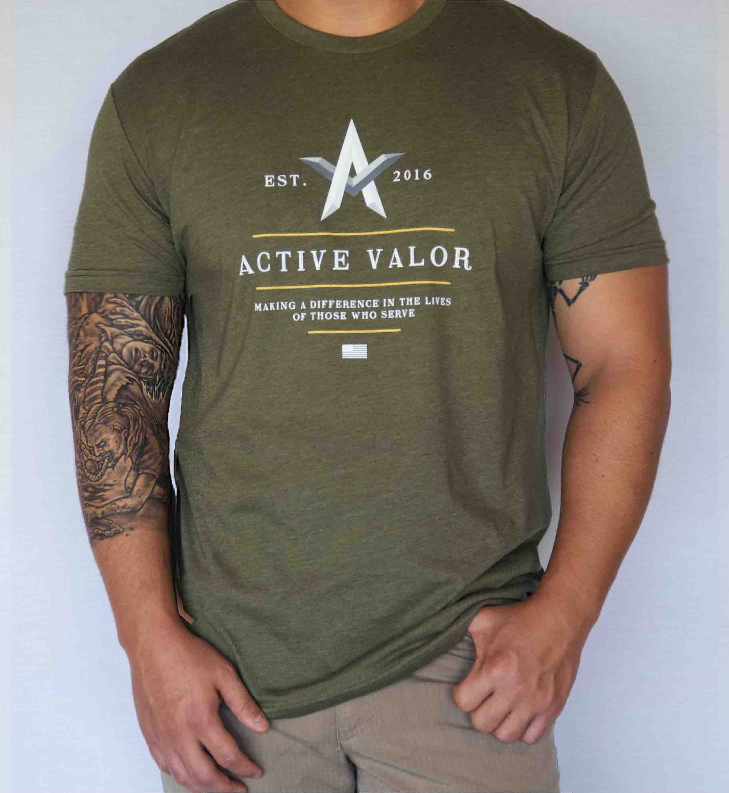 Active Valor Apparel: Military Green