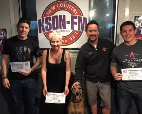 Active Valor Receives High 5,000 from KSON!